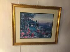 """Print """"the Garden"""" Signed """"Lawrence""""34""""X40"""".See10pics 4 size/details. MAKE OFFER"""