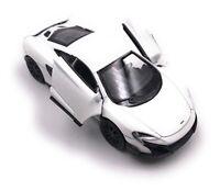 Mc Laren 675LT Coche a Escala Deportivo Hypercar Auto Blanco Race 1 :3 4