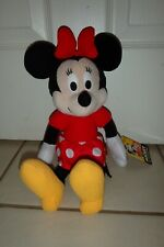 """New listing 14"""" Minnie Mouse Plush Toy Doll Kohl's Cares 90 years Disney Mickey Valentine"""