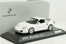 2003 Porsche 911 996 Turbo (Set) white weiss 1:43 Minichamps WAP Dealer