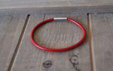 genuine LEATHER woman men bracelet Charms Giftidea ala pandora RED String subtle