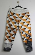 =CHIC= DRIES VAN NOTEN Yellow Screen Print Chinese Painting Triangles Pants US8