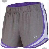 Nike Women's Plus Size Tempo Dri-FIT Track Shorts Grey/Purple Size 3X