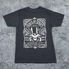 Guns N' Roses Skull Short Sleeve T-Shirt Unisex Grey Sz M