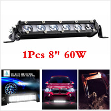 1x Car 6D 8inch 60W Single Row Spot LED Work Light Bar Off Road Fog Driving Lamp