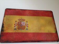 Blechschild Länder Fahne National Flagge Spanien Spain Espana 20x30 cm Deko 16