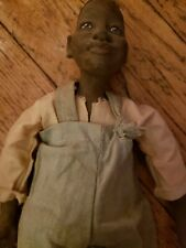 """Daddy's Long Legs Doll 16"""" Junior Young Boy Overalls Porcelain Americana Fok Art"""