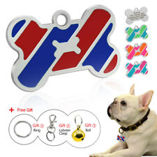 Custom Engraved Pet Tag Bone Shape Dog Id Charm Identification Cat Tag Bell Gift