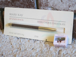 Mary Kay Lip Liner Pencil - Dark Choice Chocolate - New In Package + Sharpener