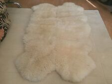 Genuine Sheepskin Lambskin Rug Pelt White (4 Rugs Binded ) Beautiful Heavy