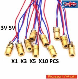 5V 650nm 5mW 6MM Red Laser Dot Diode Module Copper Head Red - UK Seller