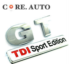 VW GT TDI Sport Edition Metal Badge Car Body Side Wing  Sticker Emblem