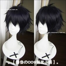 Owari no Seraph of the End Cosplay Yuichiro Hyakuya Blue Black Styled Wig S009