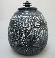 Vintage Lidded Dryden Pottery Jar OOAK Sgraffito Signed Roark 86