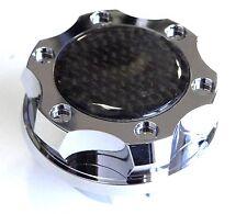 VMS RACING BILLET ALUMINUM CHROME PLATED OIL CAP LS2 ENGINE CARBON FIBER EMBLEM