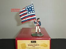 BRITAINS 17844 AMERICAN CONTINENTAL LINE INFANTRY FLAGBEARER TOY SOLDIER SET