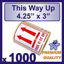 """1000 x Large This Way Up Labels 108x78mm (4"""" x 3"""")"""
