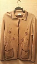 Classics - Camel Knitted Cardigan/Jacket -16/18 - Excellent Condition!