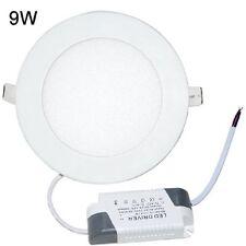 9W 3500K LED Round Recessed Ceiling Flat Panel Down Light Ultra slim Lamp War…