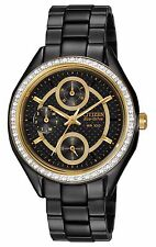 Citizen Eco-Drive Women's FD1068-53E Swarvoski Crystal Bezel Black Watch