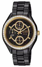 Citizen Eco-Drive Women's FD1068-53E Swarvoski Crystal Bezel Black Watch