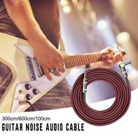 3/6/10m Premium Electric Guitar Bass Cable Musical Instrument AMP Cord L0S7