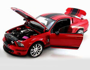 2008 FORD SHELBY MUSTANG GT500 SUPER SNAKE RED 1:18 BY SHELBY COLLECTIBLES SC313