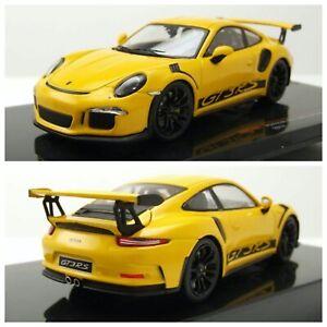 1/43 Ixo Porsche 911 (991) GT3 RS 2017 Jaune Neuf En Boite Livraison Domicile