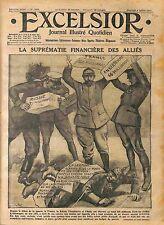 Contribution Financière des Alliés Russia Russie England Italy France WWI 1916