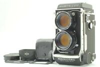 【N MINT + HOOD】 Mamiya C220 Pro TLR Film Camera 105mm f3.5 Blue Dot Lens Japan