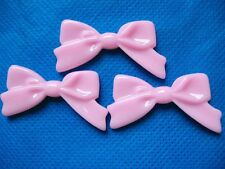 40 Large Resin Hair Bow Flatback Button Craft-Pink B095