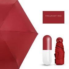 Mini Pocket Compact Umbrella Sun Anti UV 5 Folding Rain Windproof Capsule Case K
