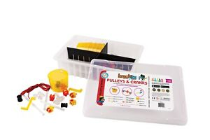 205 pc Brackitz: Pulleys & Cranks STEM Learning Toys Kids PreK-6 Extension Set