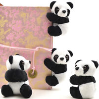 Plush panda clip small stuffed animal curtain clip bookmark notes souvenir toyTS