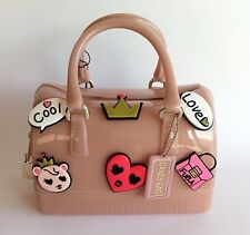 FURLA 'MINI CANDY BAG COOL LOVE PINS' Ltd Ed Nude Jelly Satchel Bag Handbag NWT