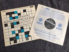 RARE SXL 2278 Franck Piano Quintet Curzon VPQ First UK Decca ED1 WBG LP NM/EX