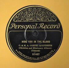 RARE PRE WAR BLACK GOSPEL C & MA Gospel Quintette Personal 78 Good Bye Pharoah