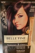 Belle Fine Violet Brown 3.66  Hair dye NEW SUPREME COLOURING SYSTEM