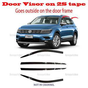 2018-2021 Volkswagen Tiguan DOOR SIDE WINDOW VENT VISORS RAIN GUARDS ⭐6pcs⭐ Set