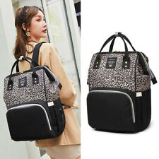 Diaper Nappy Bag Leopard Maternity Baby Organizer Large Capacity Mommy Backpack