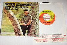 "Wynn Stewart 7"" 45 HEAR Something Pretty CAPITOL Built-In Love w/PS JUKEBOX"