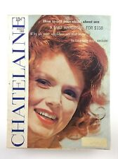 Vintage August 1962 Chatelaine Large Magazine Vol 35 Number 8 K610