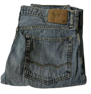 American Eagle Relaxed Leg Jeans Casual Blue Denim 34x32