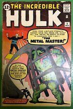 Incredible Hulk #6 1963 1st Metal Master 1st Teen Brigade Marvel Comics FR/GD