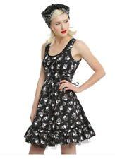 Hot Topic Daisy Skull Fit & Flare Dress - NEW! Goth Party Mini Skater Small