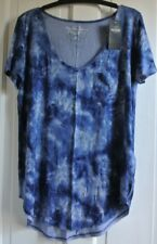 New Hollister wms/teens  top Blue tie dye  S