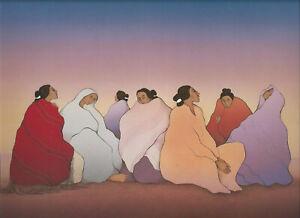 "R.C.Gorman Print   ""DESERT TWLIGHT""  Southwest Art-  11 x 14"