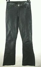 Leather Pants Vintage 80's NEW YORK SPEED Black Lamb Biker Punk Women's S $249
