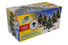 Set of 5 Solar Powered Christmas Trees Xmas Decoration Light Up Outdoor Trees