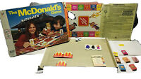 The Mcdonald's Game Board Game 1975. Partial. Missing Pieces. Pls Read. Vintage